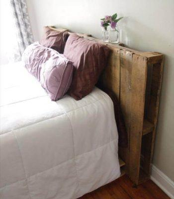 repurposed pallet headboard