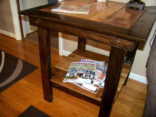 table out of recycled pallet