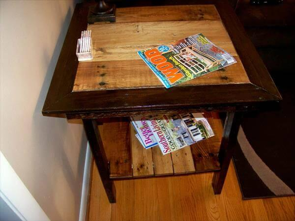 reclaimed pallet table
