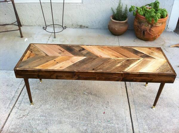 repurposed pallet table