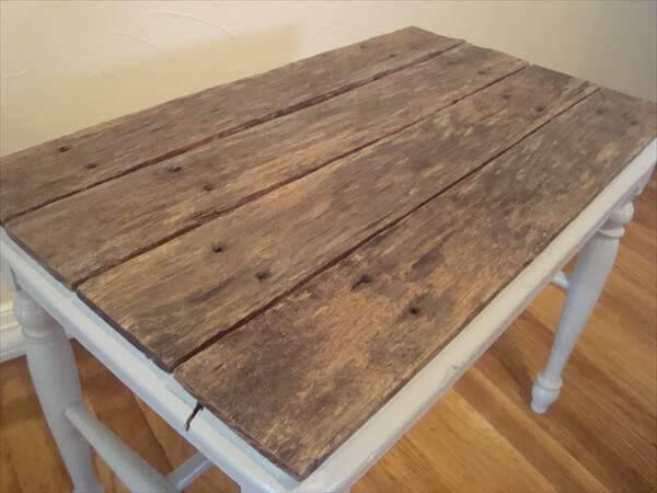 upcycled pallet top table