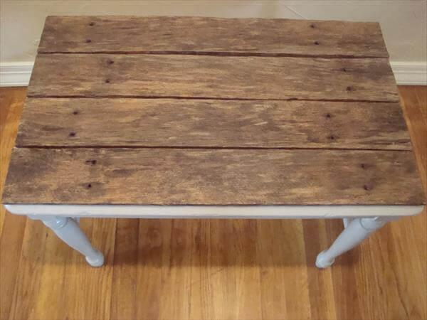 recycled pallet top table
