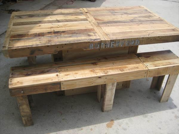 regained pallet dining table