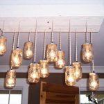 recycled pallet wooden chandelier