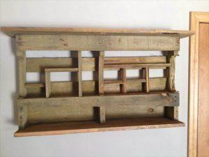 upcycled pallet wall rack