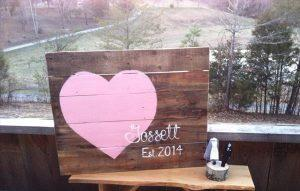 DIY Pallet Sign Art: Wedding Gift