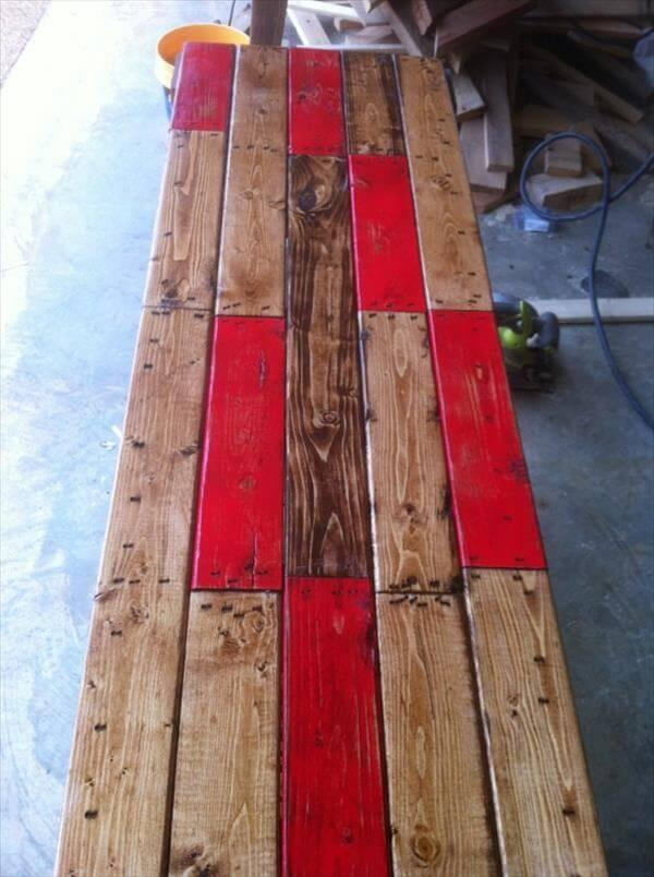 reestablished pallet side table