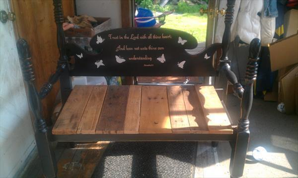 regained pallet bench