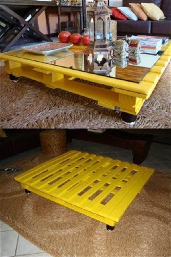 retrieved pallet coffee table