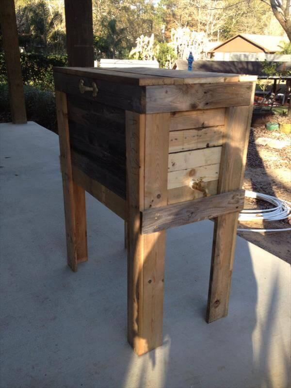 reclaimed pallet cooler