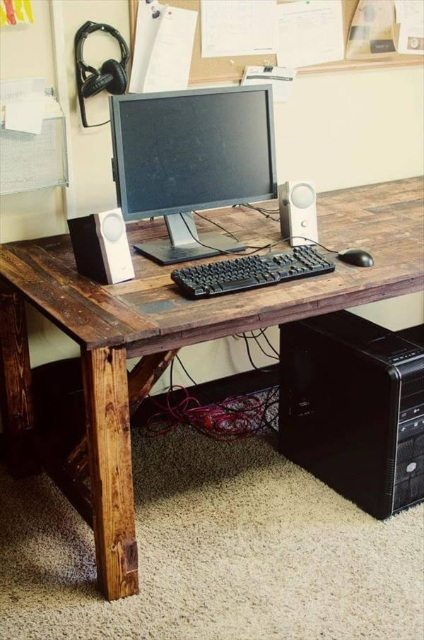 reclaimed pallet desk