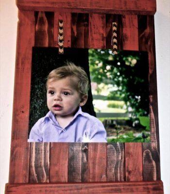 diy pallet picture frame