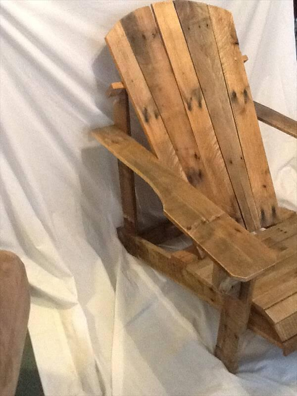 redeemed pallet adirondack chair