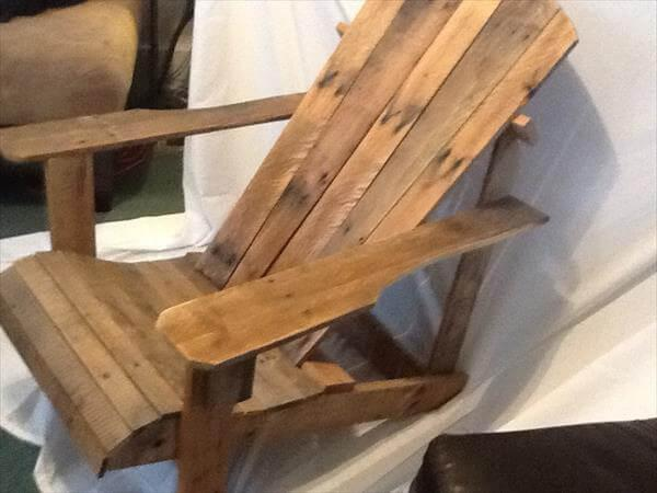 diy pallet adiron dack chair idea