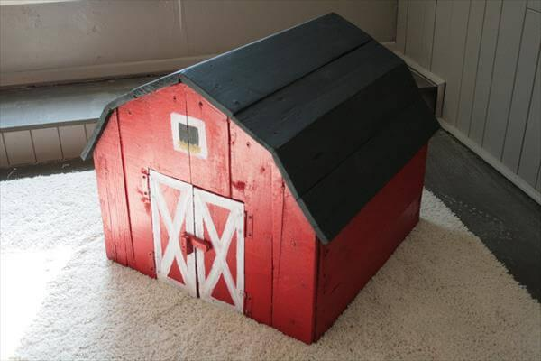 recycled pallet barn toy