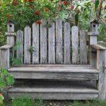 retrieved pallet bench