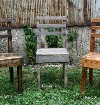 reclaimed pallet chairs