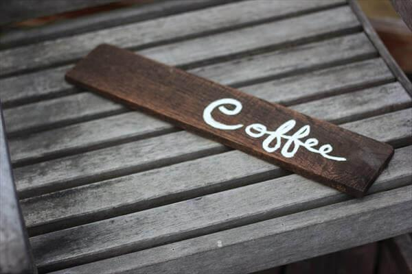 Diy Pallet Coffee Sign Art 101 Pallets