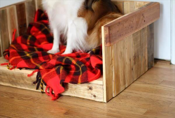 pallet wooden dog bed