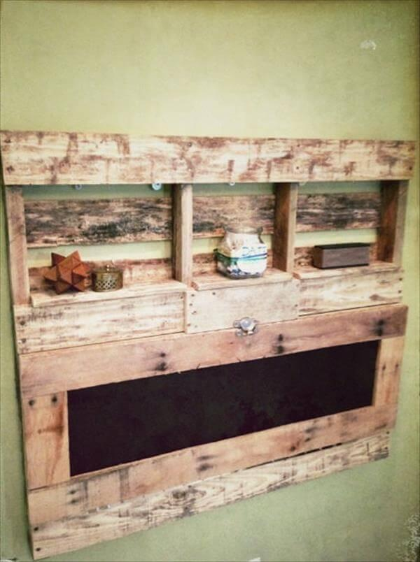 upcycled pallet foldable desk with shelves