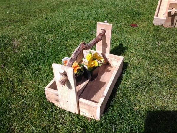 recycled pallet flower box