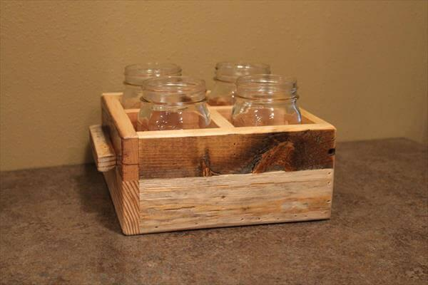 diy pallet and mason jar box idea