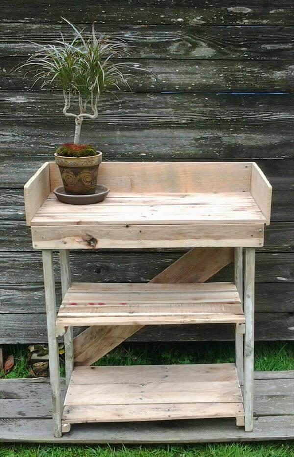 Diy Potting Bench Made With Pallets 101 Pallets