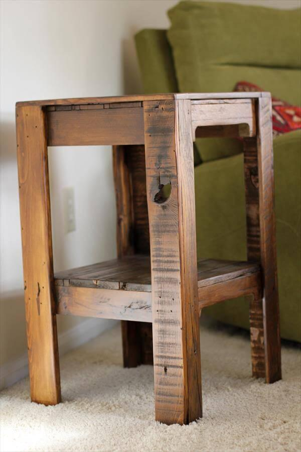shabby pallet side table