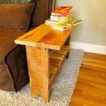 diy regained pallet sofa side table