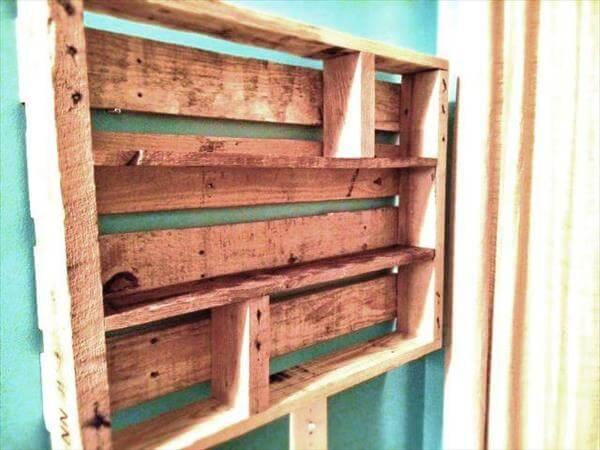 recycled pallet spices rack