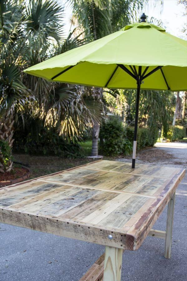 umbrella table out of pallet