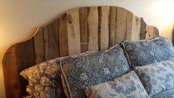 Pallet Wood Headboard For King Bed 101 Pallets