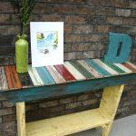 repurposed pallet wooden table