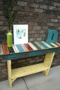 repurposed pallet wooden table