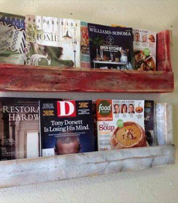 recycled pallet bookshelves