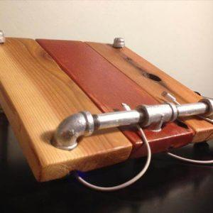 upcycled pallet wood charging station