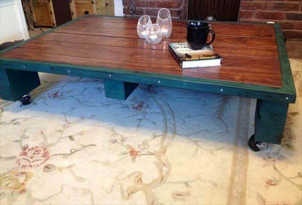 recovered pallet coffee table