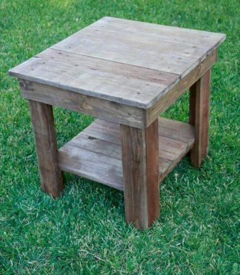 recovered pallet end table
