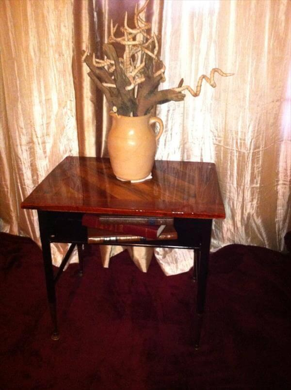 recovered pallet decorative entry table