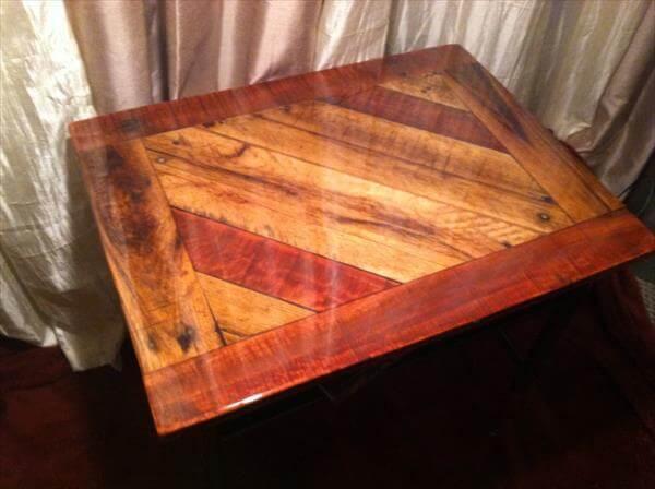 restored pallet entry desk