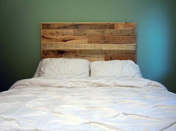 Diy Queen Size Pallet Headboard 101 Pallets