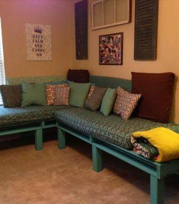 recycled pallet sectional bed