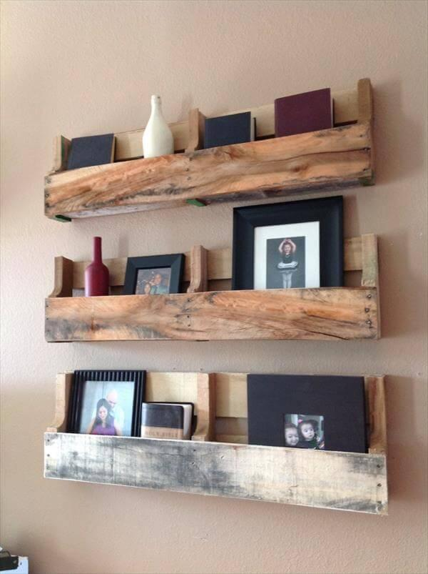 upcycled pallet shelves