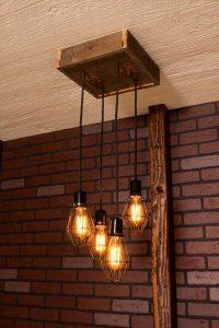 diy pallet light chandelier