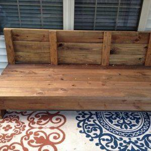 reclaimed pallet couch