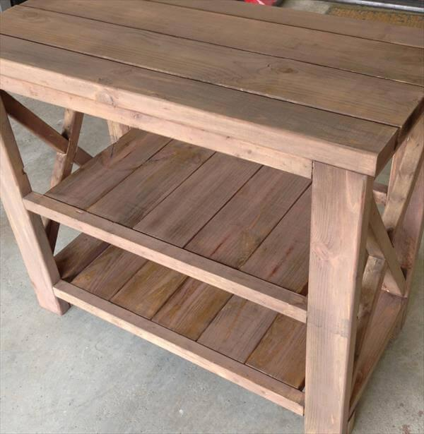 diy pallet kitchen island and TV stand