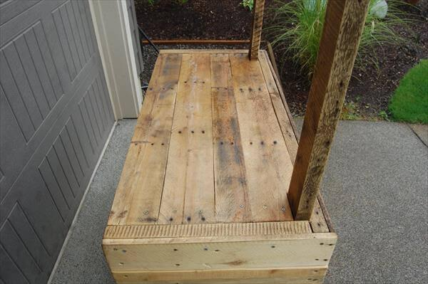 handcrafted pallet lemonade stand
