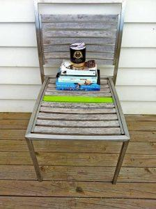 recycled pallet metal chair