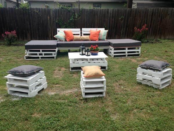 Beau Recycled Pallet Outdoor Seating Plan