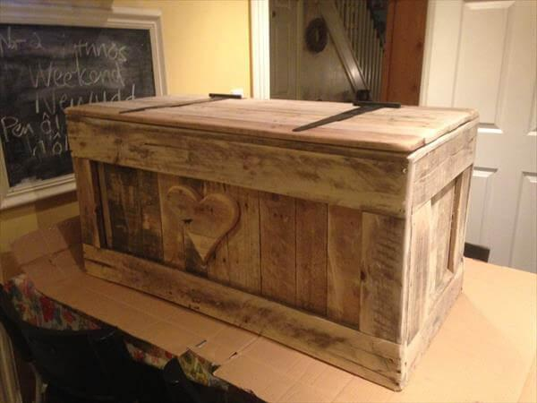Shabby Chic Pallet Toy Box Idea